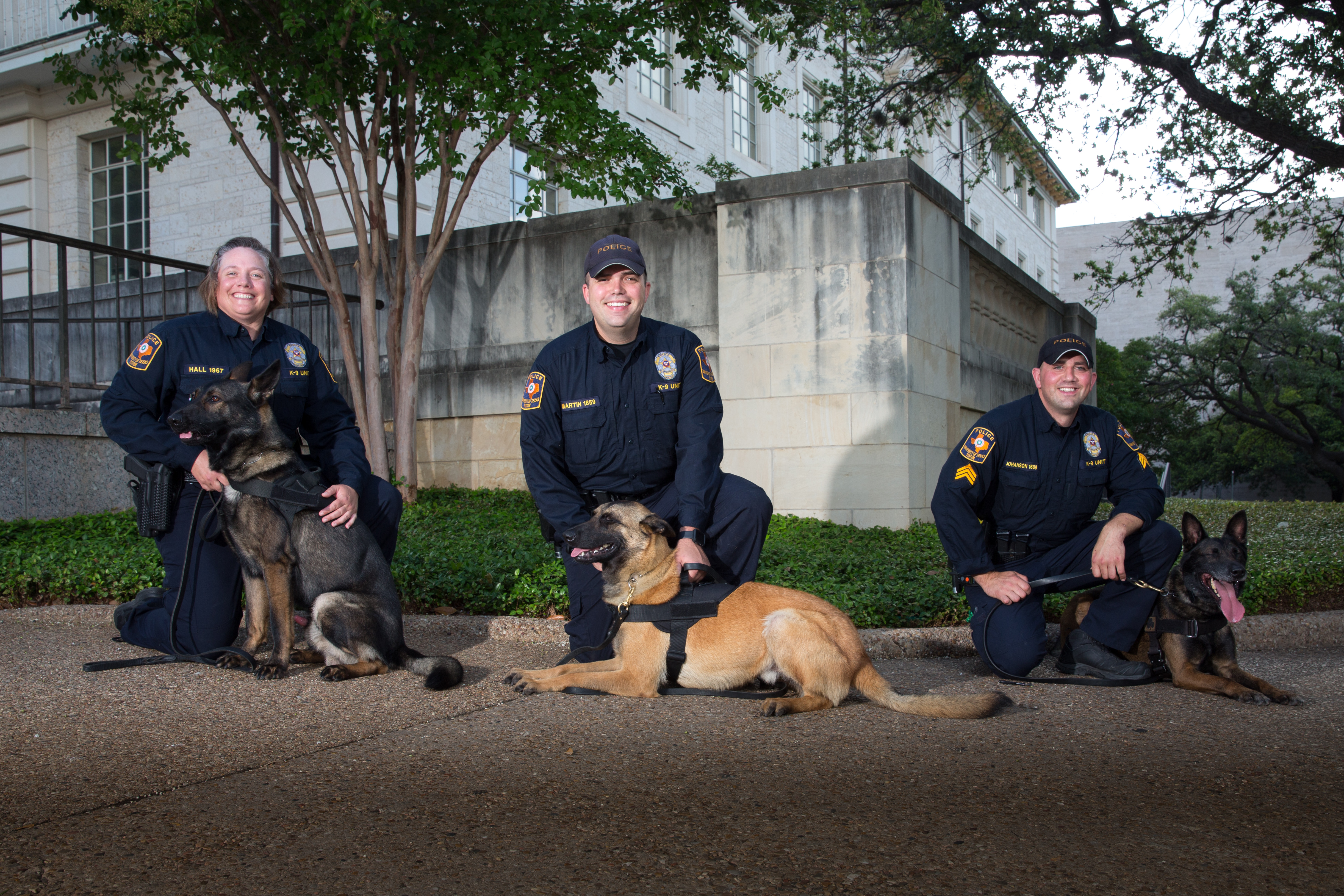 UTPD officers with police dogs
